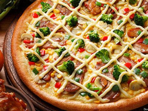 Pizza con mayonesa en Domino's Japón