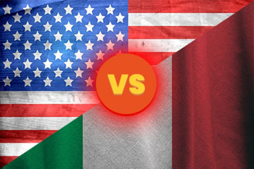 Pizza italiana Vs Pizza americana: Diferencias