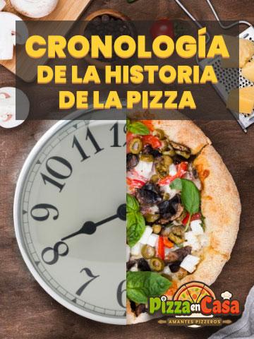 Línea temporal de la historia de la pizza
