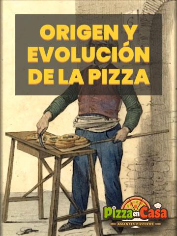 Origen y Evolución de la Pizza - Ilustración de pizzaiolo callejero napolitano 1.830