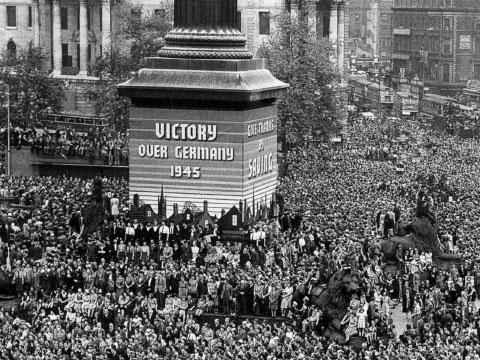 Celebración de la victoria frente Alemania en la Segunda Guerra Mundial