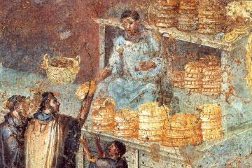 Fresco romano de una panadería