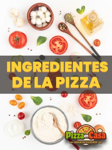Los ingredientes básicos de la pizza italiana
