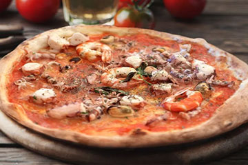 Receta Pizza Frutos del Mar