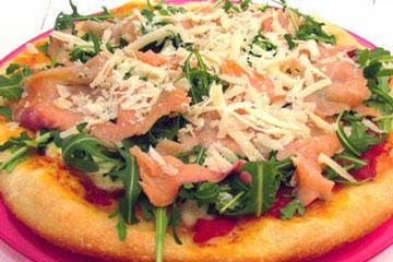 Pizza de Salmón y Rúcula